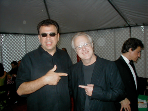 Famous saxophonist, arranger and composer, Tom Scott doing a show with Paul in Los Angeles