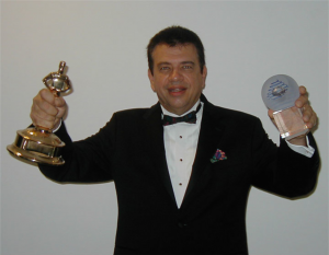Paul with a few of his awards for production, writing and arranging