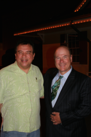 Comedian Larry Miller and Paul after the show